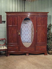 Antique Edwardian Mahogany Inl