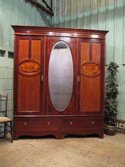 Antique Edwardian Mahogany Tri