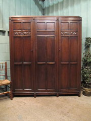 Antique Edwardian Oak Triple W