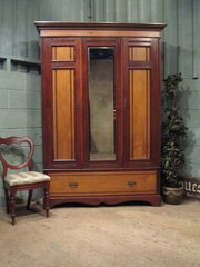 Antique Edwardian Walnut  Ash