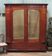 Antique Large Edwardian Inlaid