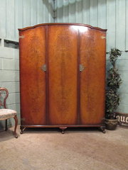 Antique Mahogany Triple Wardro