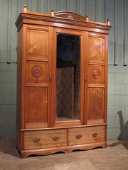 Antique Victorian Ash Double W