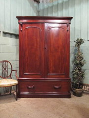 Antique Victorian Mahogany Dou