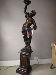 19th century carved walnut bla