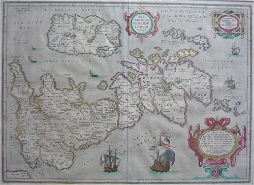 Abraham Ortelius - a 1595 map of Great Britain