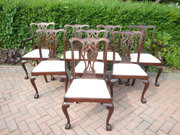Set 8 Antique Mahogany Dining