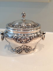 Exquisite Silver Victorian Tea Caddy