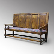 Rare George III oak settle