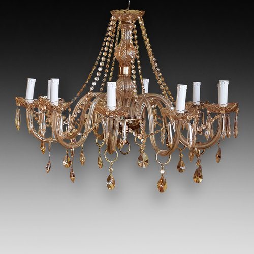 12 Arm Cut Glass and Crystal Chandelier