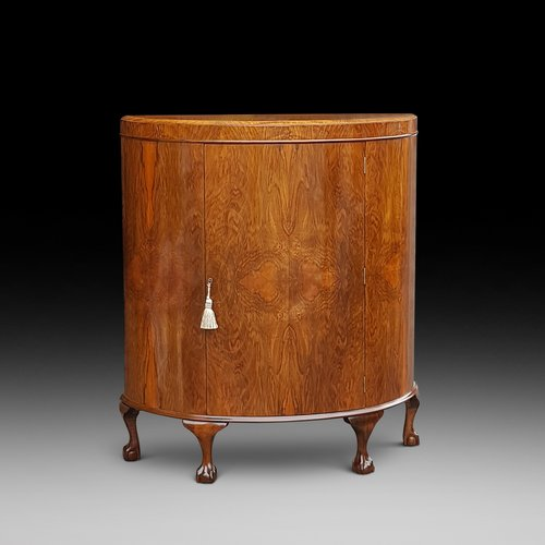 1920's Burr Walnut Cocktail Cabinet