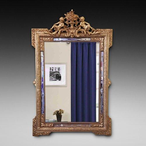 19thC Italian Gilt Frame Mirror