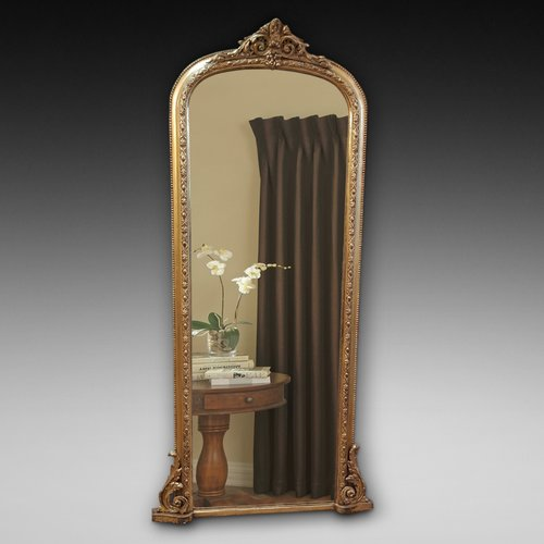 19th Century giltwood and gesso framed pier mirror