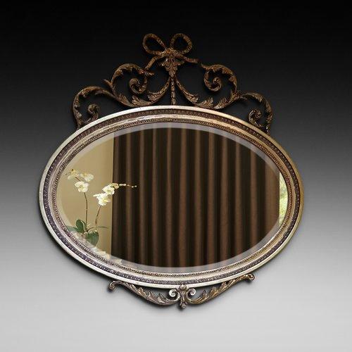 Adam Style Gesso Framed Mirror