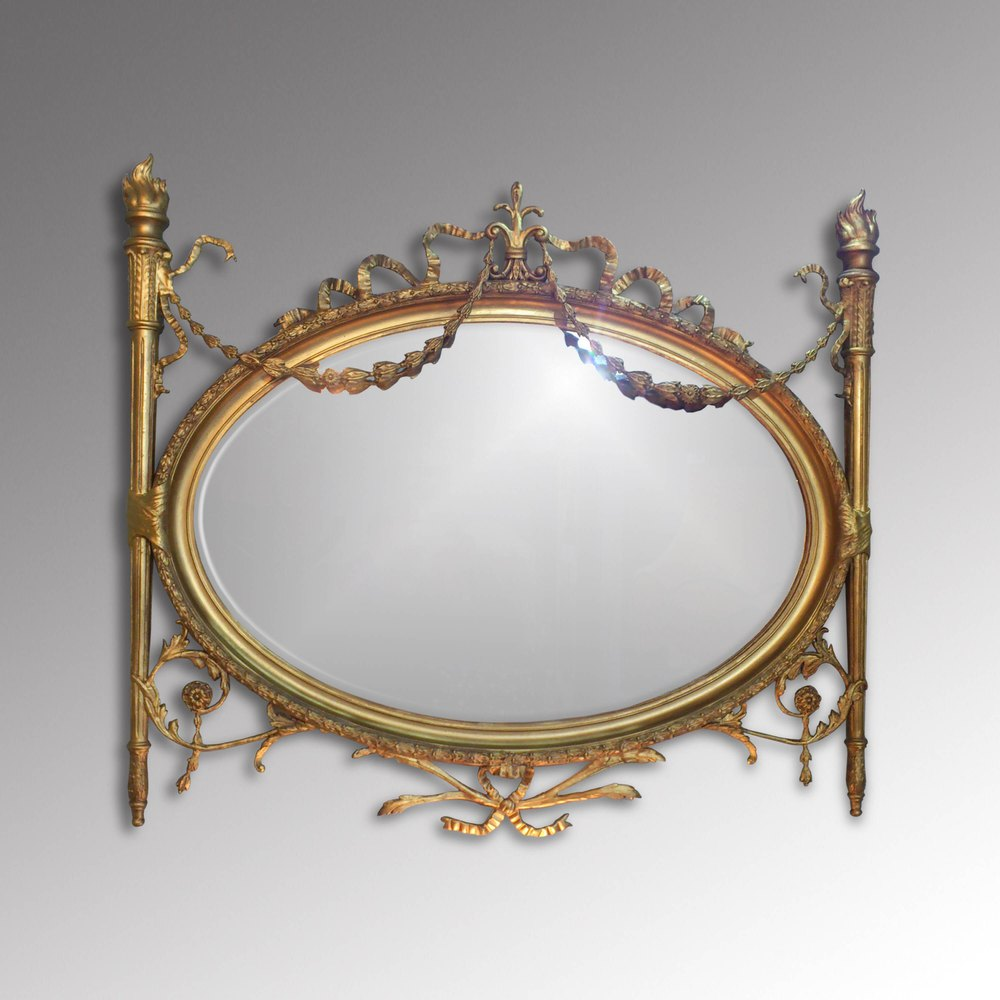 Church street antiques interiors adam style mirror for Adam style mirror