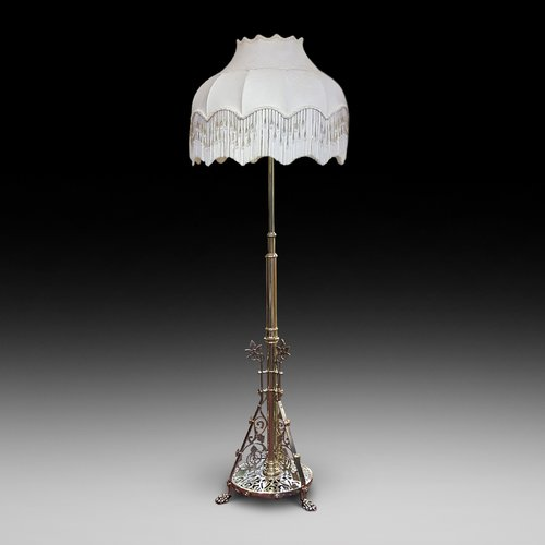 Aesthetic period brass standard lamp
