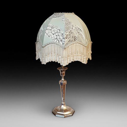 Art Deco Silver Electric Table Lamp