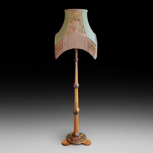 Art Deco Sycamore Standard Lamp