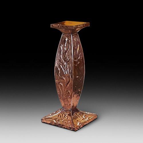Arts & Crafts beaten copper jardiniere stand