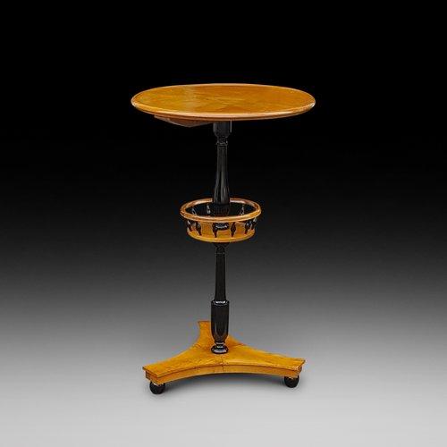 Biedermeier Late 19thC Maple Side Table