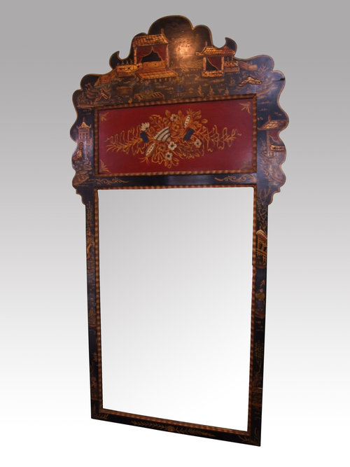Antiques atlas chinoiserie lacquered mirror for Church style mirrors