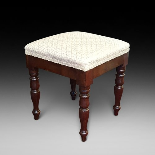 Early Victorian Mahogany Foot Stool
