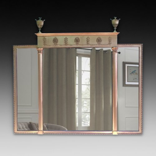 Edwardian Adam Revival Overmantel Mirror