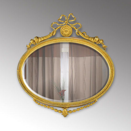 Church street antiques interiors edwardian adam style for Church style mirrors