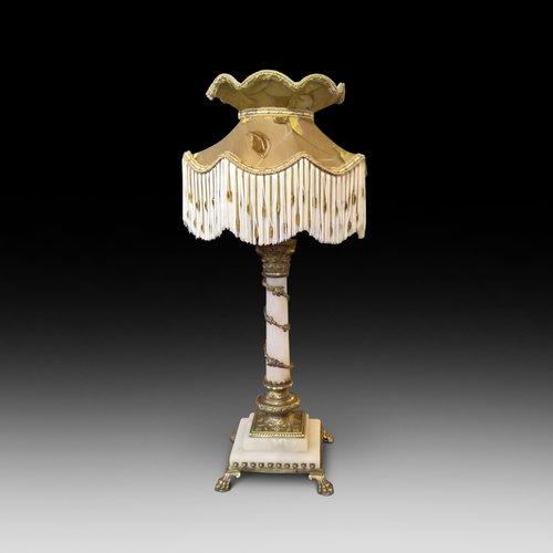 Edwardian Alabaster Table Lamp