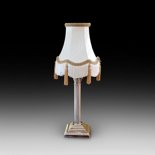 Edwardian Electro Plated Table Lamp