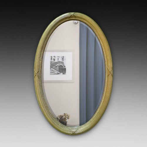 Edwardian Giltwood Oval Mirror