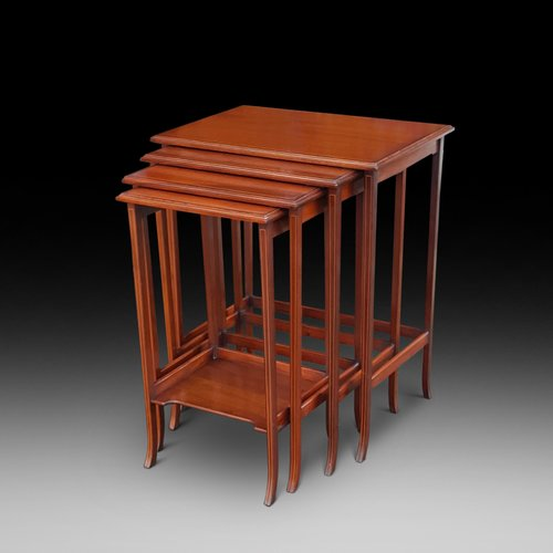 Edwardian Inlaid Mahogany Quartetto of Tables