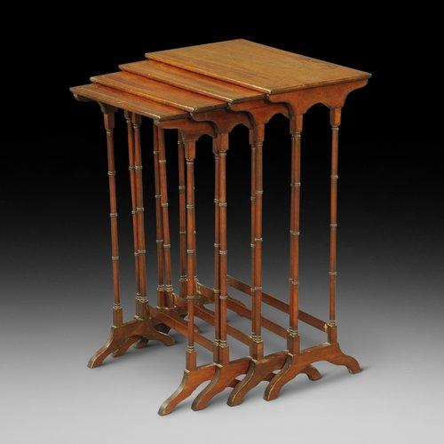 Edwardian Mahogany Nest of 4 Tables