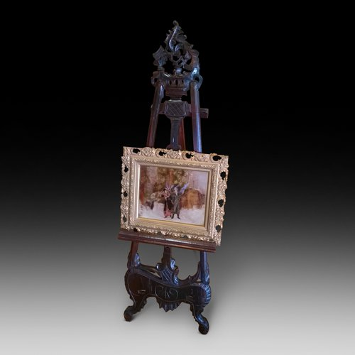 Edwardian Stained Beech Easel