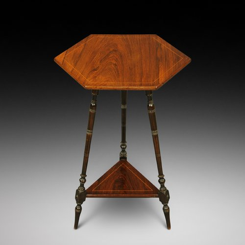 Edwardian inlaid rosewood occasional side table