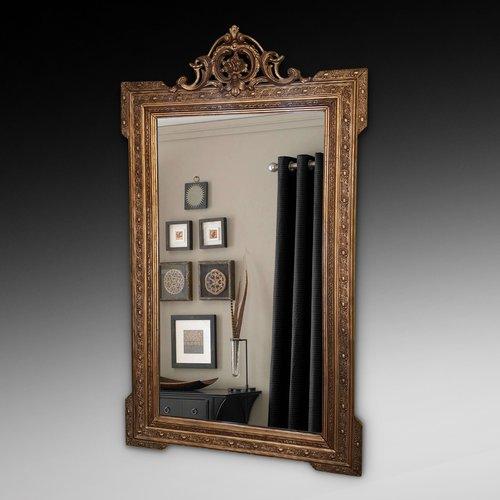 English gilt composition wall mirror