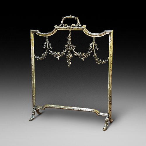 French Brass Fire Guard