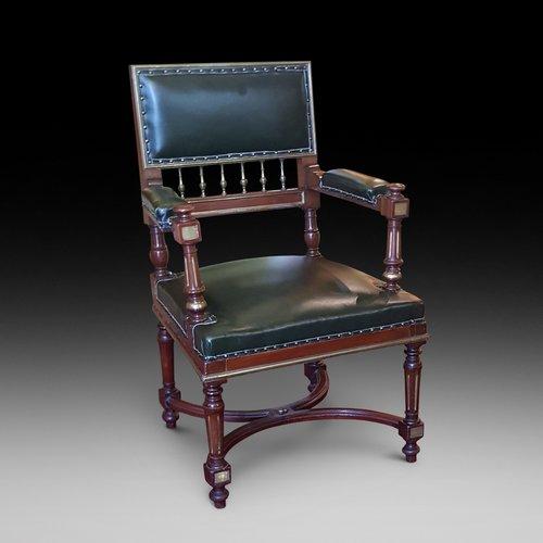 French Mahogany Desk Chair