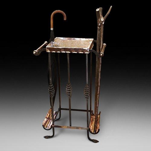 Late 19thC Aesthetic Copper Umbrella Stand