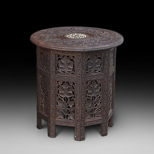 Late 19thC Anglo Indian Hardwood Occasional Table