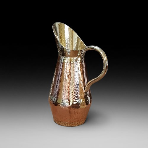 Late 19thC Arts and Crafts Copper and Brass Ewer