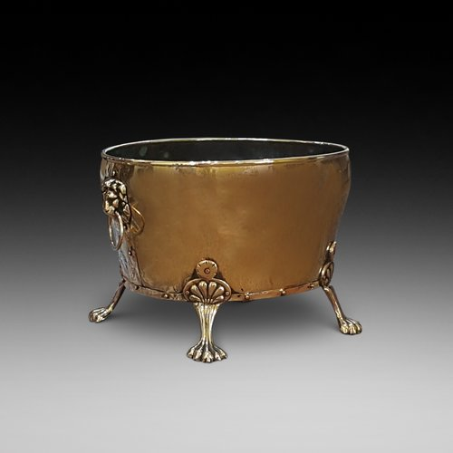 Late 19thC Brass Log Bucket