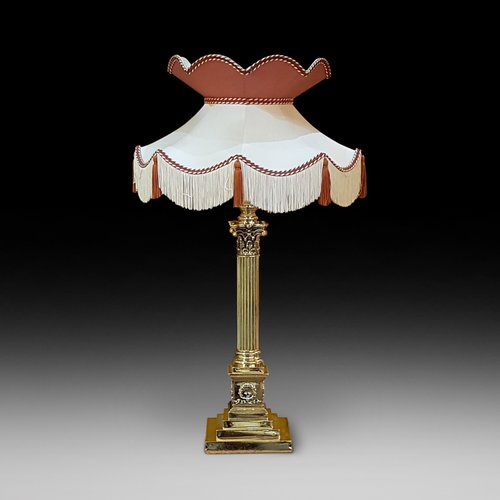 Late 19thC Brass Table Lamp