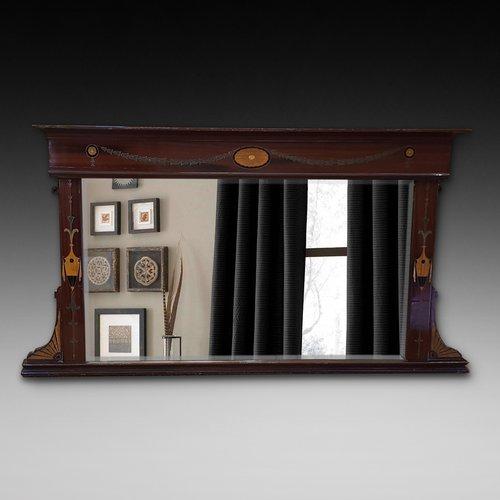 Late 19thC Mahogany Overmantle Mirror