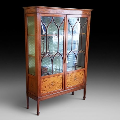 Late 19thC Satinwood Display Cabinet