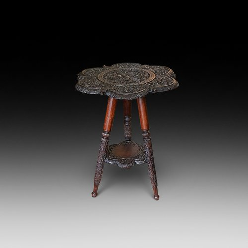 Late 19thC Small Anglo Indian Padouk Side Table
