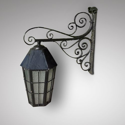 Late 19th Century Cast Iron Exterior Lantern