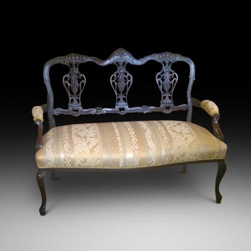 Late 19th Century Mahogany 2 Seater Sofa