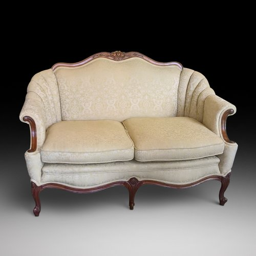 Late 19th Century Walnut French Two Seater Settee