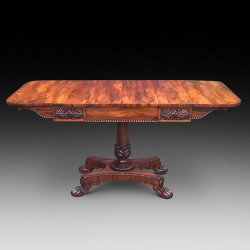 Late Regency Goncalo Alves Sofa Table